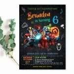 avengers-invitation-template