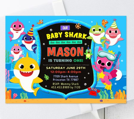 baby shark invitation template