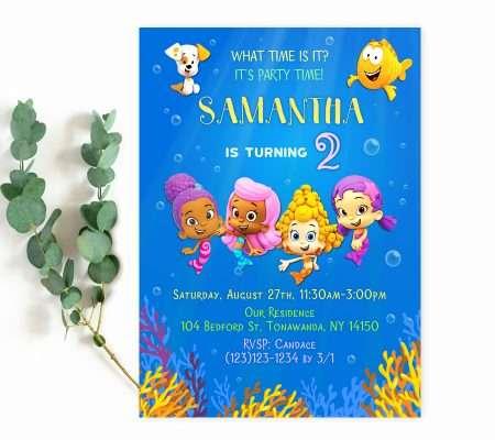 bubble guppies invitation for girl