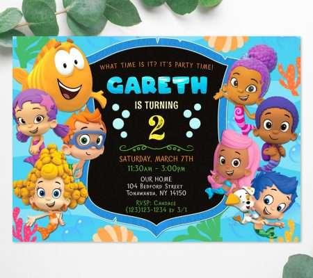 Bubble Guppies invitation boy