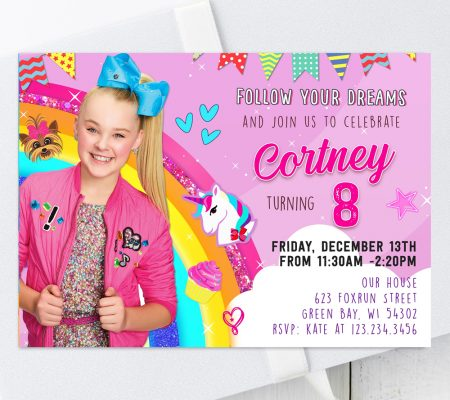 jojo siwa birthday invitation template