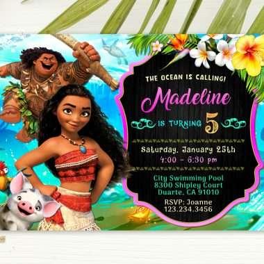 Moana Invitations