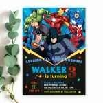 superhero-invitations-editable