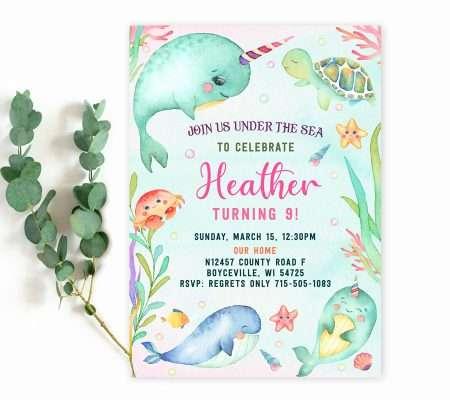 under the sea invitation template