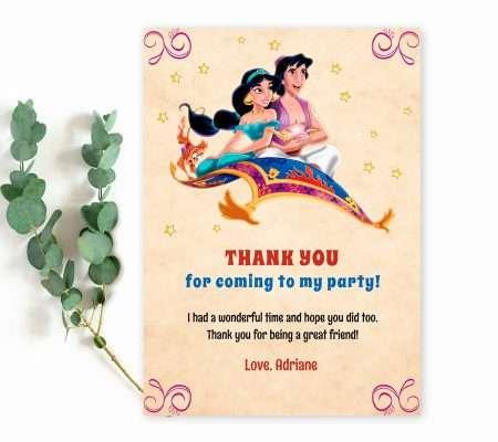 Aladdin thank you card template