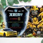 Transformers-Bumblebee-Birthday-Invitation