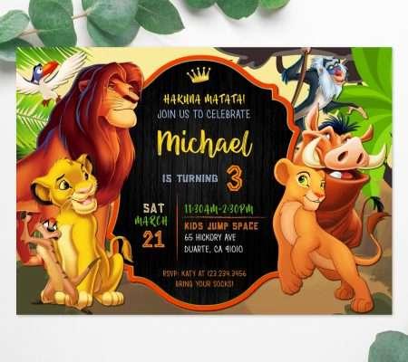 Lion King invitation template
