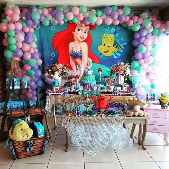 little mermaid backdrop ideas