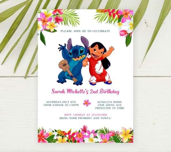 Lilo and Stitch Invitation