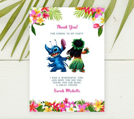 lilo and stitch thank you card editable template
