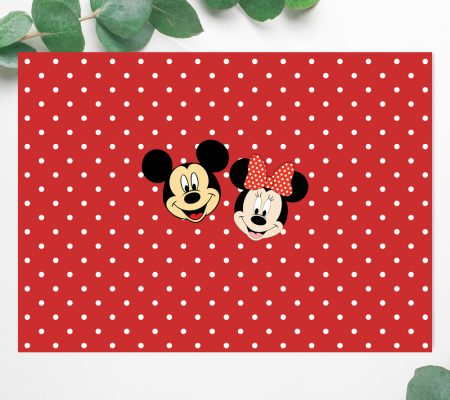 Mickey and Minnie party invite