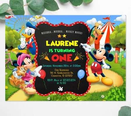 Mickey Mouse invitation editable template