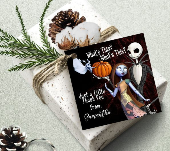 Nightmare Before Christmas Thank You Tag