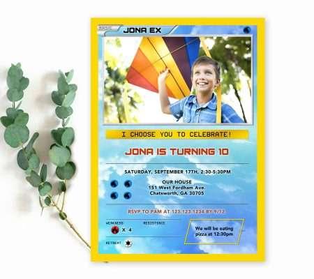 pokemon birthday invitation with picture