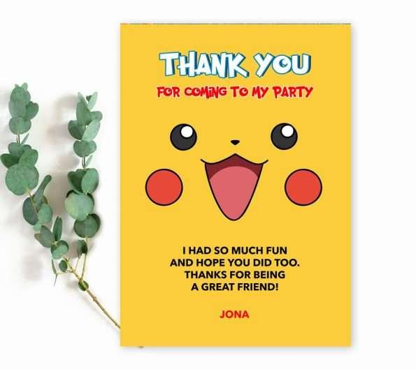 pokemon thank you card template