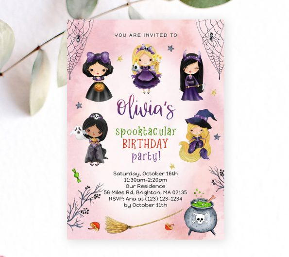 Halloween Princesses Invitation