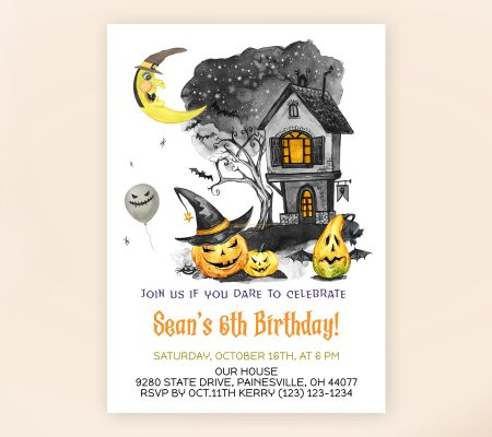 Halloween Scare Party Invitation