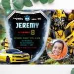 Transformers-Bumblebee-Birthday-Invitation-with-Photo