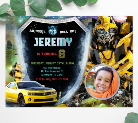 Transformers Invitation with Photo
