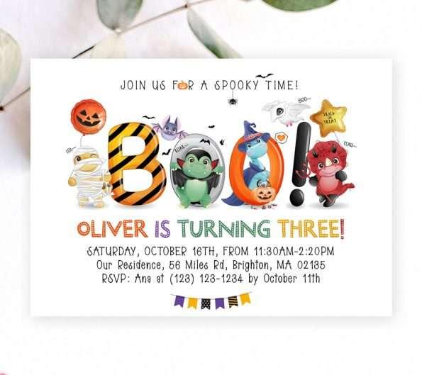 Boo Birthday Invitation