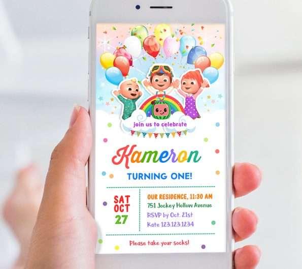 Digital Cocomelon Invitation