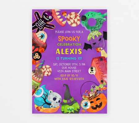 Halloween invitation for kids