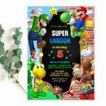 Mario Party Invitation