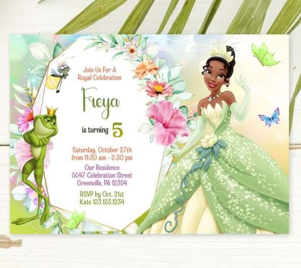 Princess And The Frog Invitation