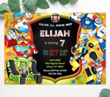 Rescue Bots invitation