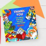 rescue bots thank you card