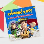 toy story thank you card